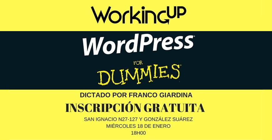 Workshop WordPress Gratis Ecuador