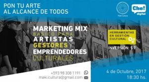Franco Giardina Charla Marketing Mix Básico para Artistas, Gestores y Emprendedores Culturales
