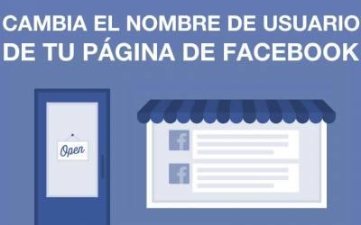 ¿Cómo cambiar el nombre de usuario de mi página de Facebook?