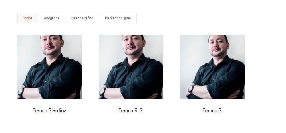 Problema miniaturas Divi blog y portfolio.