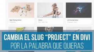 Cambiar slug project en Divi