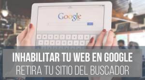Cómo eliminar mi web de Google