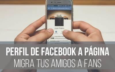 Convertir tu perfil en una página de Facebook