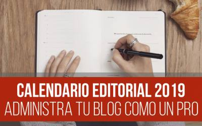 Plantilla – Calendario Editorial para Blog [DESCARGA GRATIS]