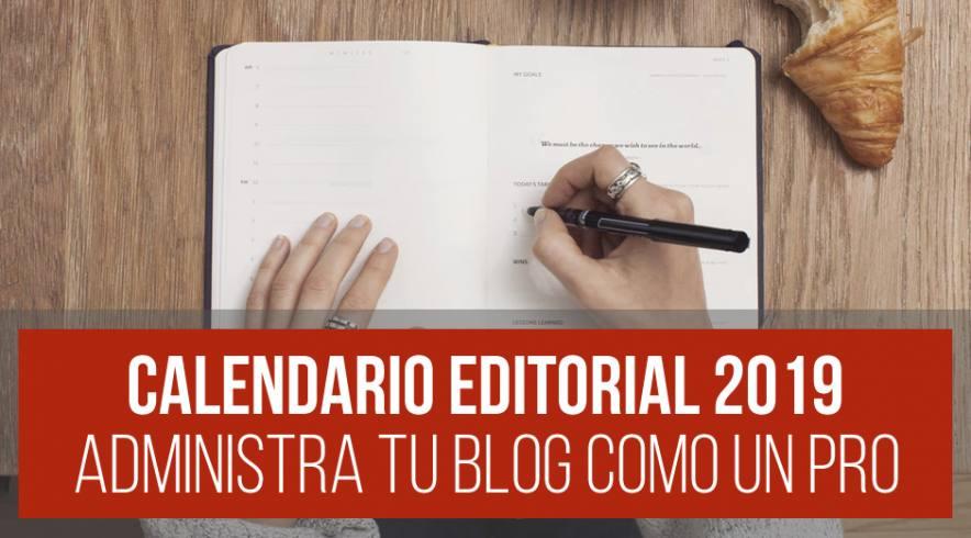 Calendario Editorial para Blog 2019