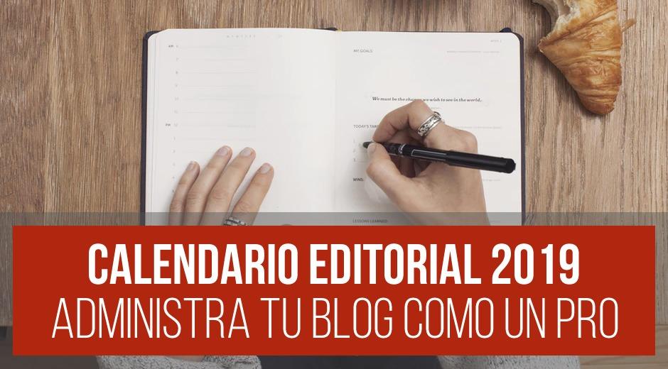 Plantilla – Calendario Editorial para Blog [DESCARGA GRATIS]