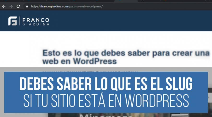 Slug en WordPress