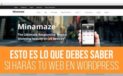 Esto es lo que debes saber para crear una página web en WordPress