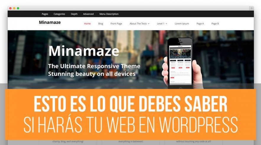 Lo que debes saber para tener tu sitio web en WordPress