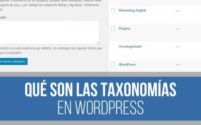 Taxonomía en WordPress