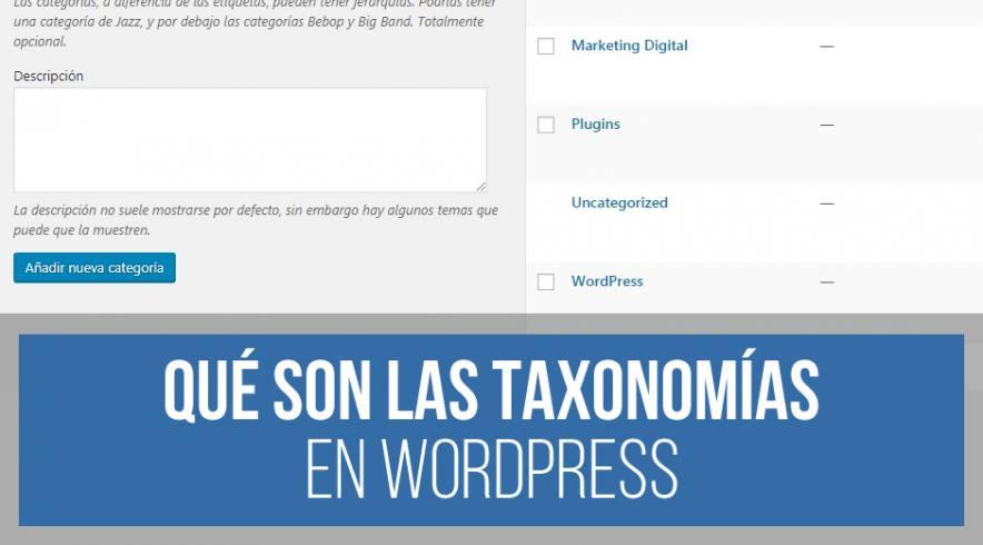 Taxonomía WordPress