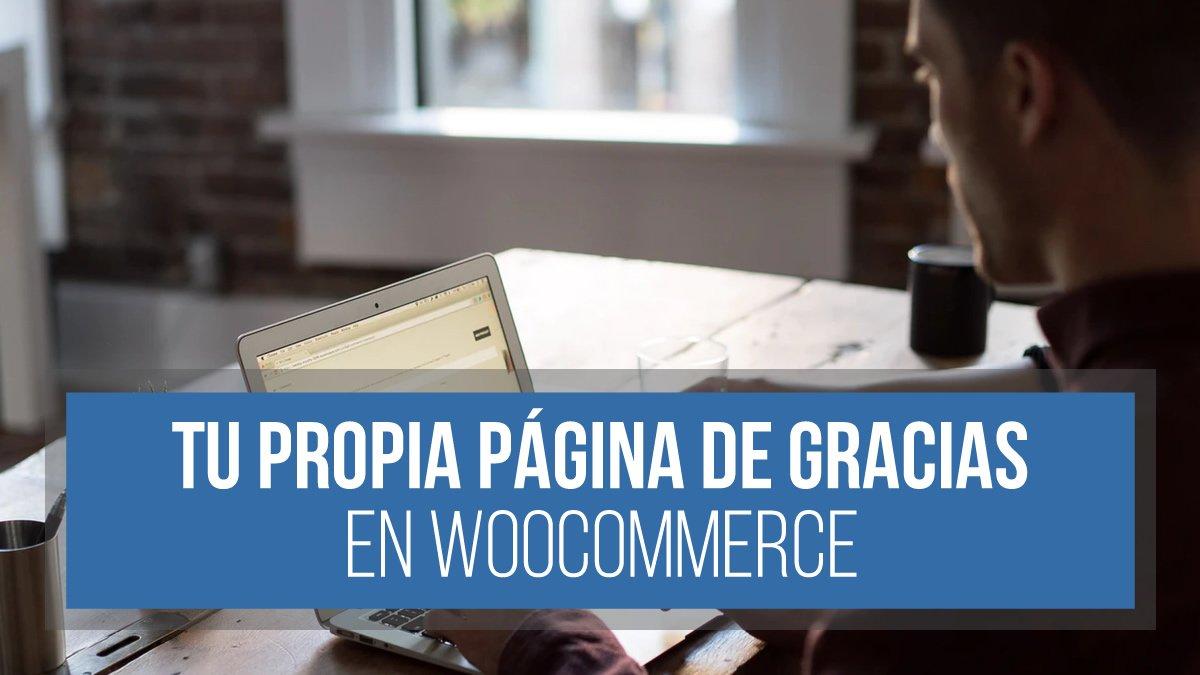 Página de gracias en WooCommerce